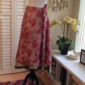 Exotic Fair Trade Silk Sari Skirt
